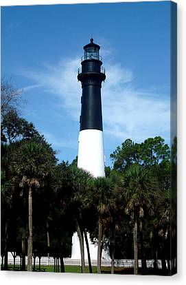 Canvas Print featuring the photograph Hunting Island Lighthouse by Ellen Tully