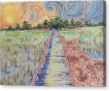 Hunting Island Marsh Walk I Canvas Print