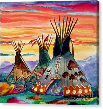 Hunting Lodges  Northern Plains Canvas Print by Anderson R Moore