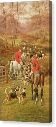 Hunting Scene, 1906 Canvas Print by Edward Algernon Stuart Douglas