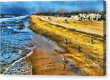 Canvas Print featuring the photograph Huntington Beach by Clare VanderVeen