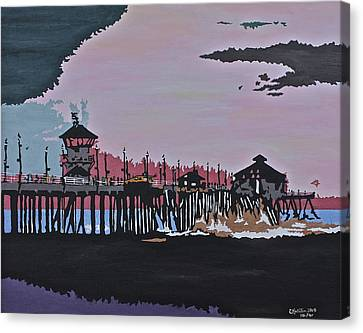 Huntington Beach Pier 1 Canvas Print