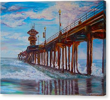 Huntington Beach Pier 2 Canvas Print