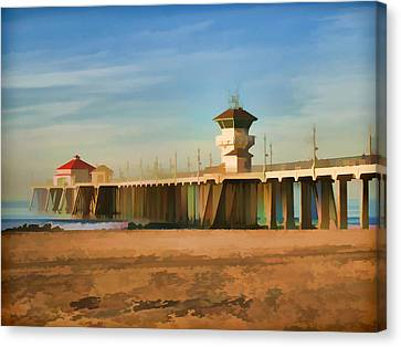 Huntington Beach Pier California Canvas Print