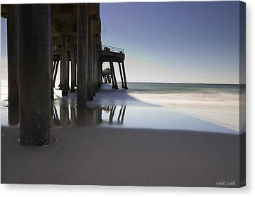 Huntington Beach Pier - Looking Out Canvas Print by Heidi Smith