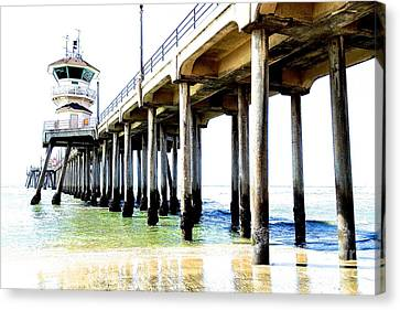 Huntington Beach Pier Canvas Print by Margie Amberge