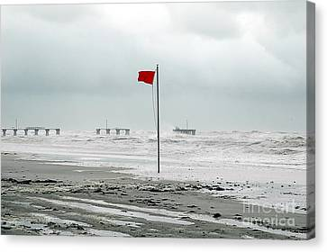Hurricane At Gulf Shores Alabama Canvas Print