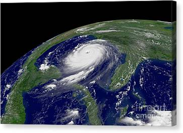 Hurricane Katrina Canvas Print by Jon Neidert