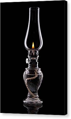 Hurricane Lamp Still Life Canvas Print by Tom Mc Nemar