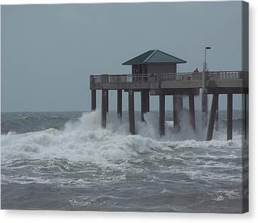 Canvas Print featuring the photograph Hurricane Rita 2 by Michele Kaiser