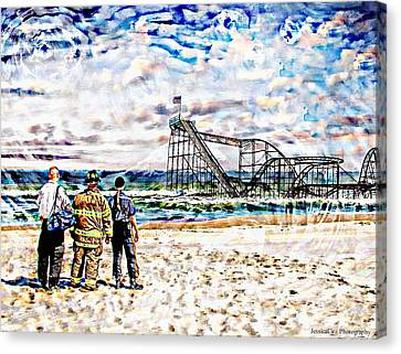 Hurricane Sandy First Responders Canvas Print by Jessica Cirz