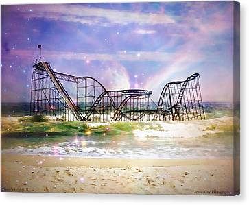 Hurricane Sandy Jetstar Roller Coaster Fantasy Canvas Print
