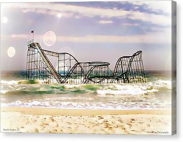 Hurricane Sandy Jetstar Roller Coaster Sun Glare Canvas Print