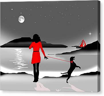 Hurry Back Darling Canvas Print by Peter Stevenson