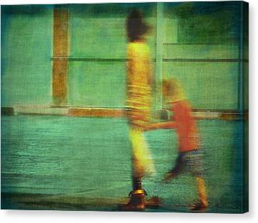Hurry Child Hurry  Canvas Print
