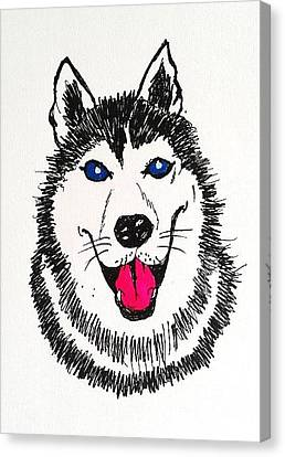 Husky Dog Canvas Print by Esther Rowden