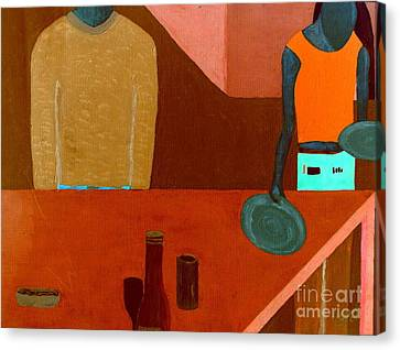 Canvas Print featuring the painting Hussongs Cantina Baja by Bill OConnor