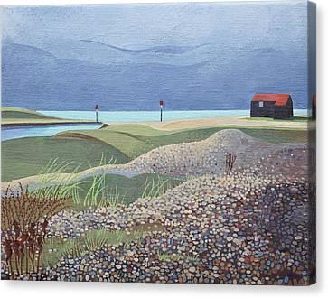 Hut, Rye Harbour  Canvas Print by Anna Teasdale