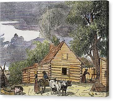 Hut Virginia, 1848 United States Canvas Print by Prisma Archivo