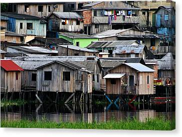 Canvas Print featuring the photograph Huts by Henry Kowalski