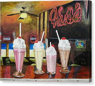 Hut's Milkshake Heaven Canvas Print by Manny Chapa