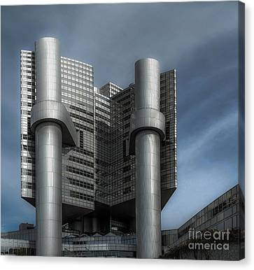 Hvb Building Canvas Print by Hannes Cmarits