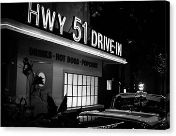 Hwy 51 Drive-in Canvas Print