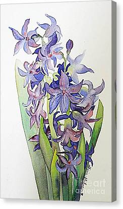 Canvas Print featuring the painting Hyacinthus by Shirin Shahram Badie