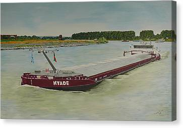 Hyade In Wesel Duitsland Hyade At Wesel On The Rhine Germany Canvas Print