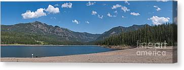 Hyalite Reservoir -- East View Canvas Print by Charles Kozierok