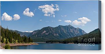 Hyalite Reservoir -- South View Canvas Print by Charles Kozierok