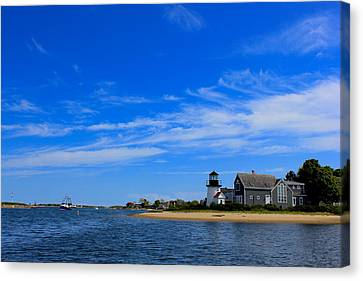 Canvas Print featuring the photograph Hyannis Harbor by Amazing Jules