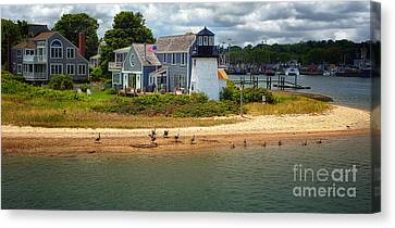 Hyannis Light Migrating Geese Canvas Print