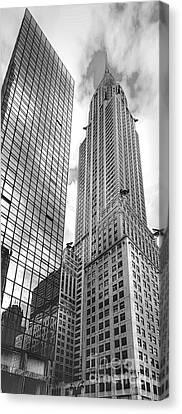 Hyatt And Chrysler Canvas Print by David Bearden