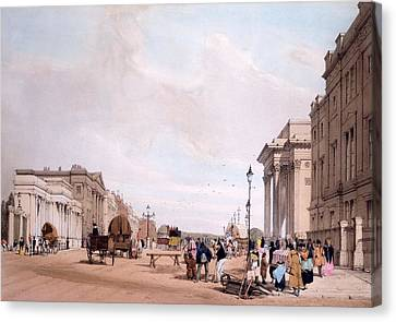 Hyde Park Corner, Looking Canvas Print by Thomas Shotter Boys