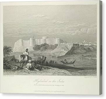Hyderabad On The Indus Canvas Print by British Library