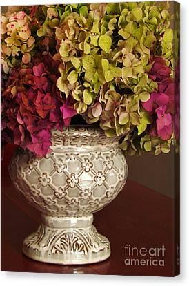 Hydrangea Bouquet   Canvas Print by Deborah Johnson