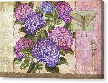 Hydrangea Collage Canvas Print by Paul Brent