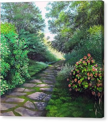 Hydrangea Canvas Print by David Bottini