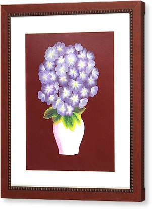 Canvas Print featuring the painting Hydrangea by Ron Davidson
