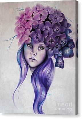 Delicate Canvas Print - Hydrangea by Sheena Pike