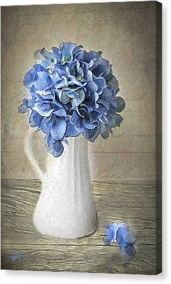 Cape Cod Canvas Print - Hydrangeas In Vase by Michael Petrizzo
