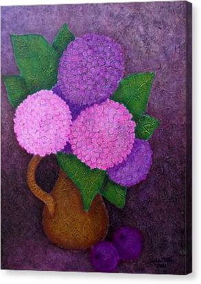 Hydrangeas Canvas Print by Madalena Lobao-Tello