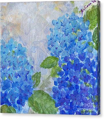 Hydrangeas On A Cloudy Day Canvas Print by Arlissa Vaughn