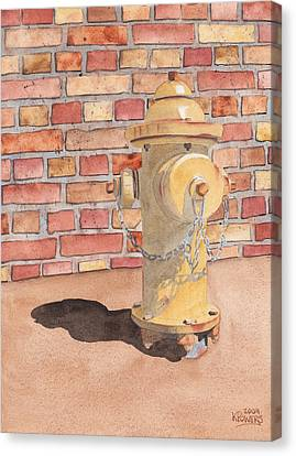 Hydrant Canvas Print by Ken Powers