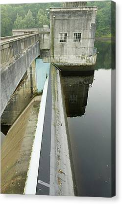 Hydro Electric Power Station Canvas Print by Ashley Cooper