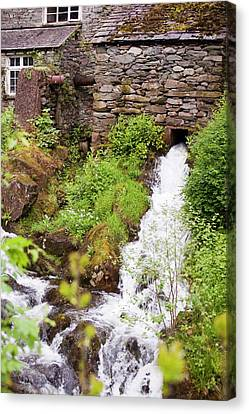 Hydro Electric Turbine House Canvas Print by Ashley Cooper