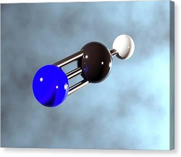 Hydrogen Cyanide Molecule Canvas Print by Indigo Molecular Images