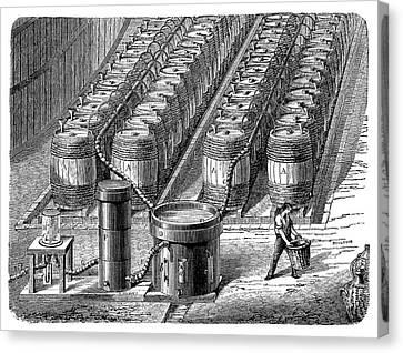 Hydrogen Gas Production Plant Canvas Print
