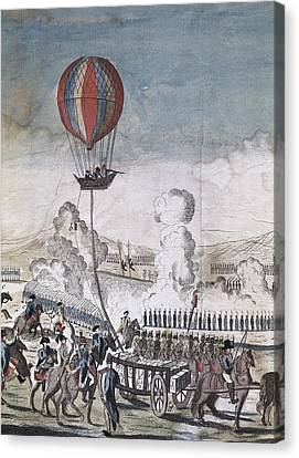 Hydrogen Hot-air Balloon For Military Canvas Print by Everett
